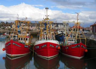 Boats in Arbroath