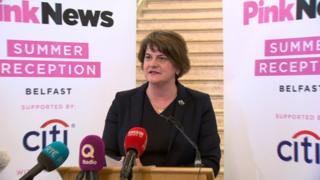 Arlene Foster at Pink News event