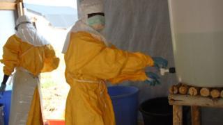 Un centre de traitement d'Ebola