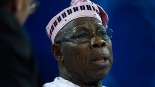 Former president of Nigeria, Olusegun Obasanjo.