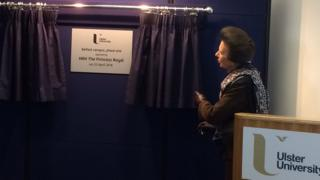 Princess Anne unveils the plaque