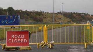A spokesman for Manx Utilities said all building work has been halted at the sewerage works