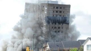 Demolition of Rosemount Street flats