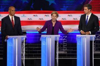 Booker, Warren and O'Rourke