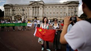 Chinese tourists in London
