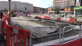 Work at Swansea's Kingsway