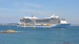 Cruise ship Anthem off Guernsey