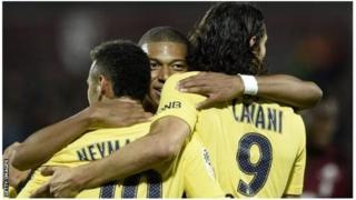 Neymar, Mbappe na Cavani