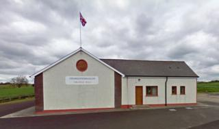 A number of windows were smashed at Strawletterdallon Orange hall, near Newtownstewart