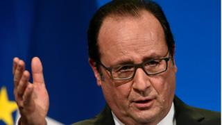 President Francois Hollande head shot