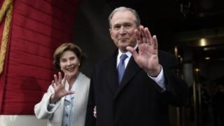 George W Bush n'umugore we Laura