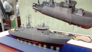台湾海军的第一艘新型扫雷艇(猎雷舰)原本应该在今年7月返台,但是船没回来却爆出承包商发生财务困难等等问题。 (VChan)