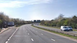 The A20 at Swanley