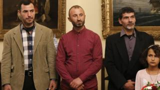 ماهیگیران پناهجو در مراسم دریافت حق شهروندی