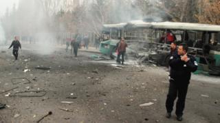 Взрыв автобуса в турецком Кайсери