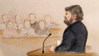 Carl Beech giving evidence in court