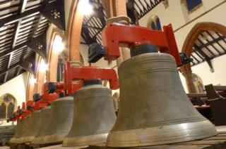 Restored bells at St James' Church