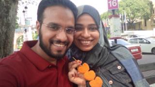 Nazreen Fazal and husband