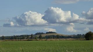 Clouds over Wittenham Clumps