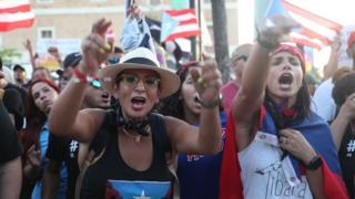 Protestas en Puerto Rico.