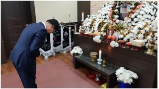 태안의료원에 마련된 한국서부발전 태안화력발전소 협력업체 직원 고 김용균 군의 빈소