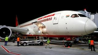 An Air India Boeing 787. Its flight AI319 was the first Air India flight to land in Tel Aviv after using Saudi airspace - 2018.