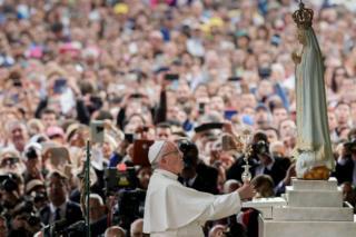 папа римский Франциск в Фатиме