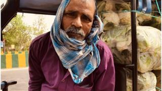 Ramprasad Shah sells vegetables in Noida