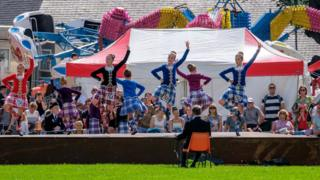 Ian Stewart sent this photo from the Highland Games in Alva, Clackmannanshire