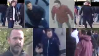 CCTV images of men police wish to identify