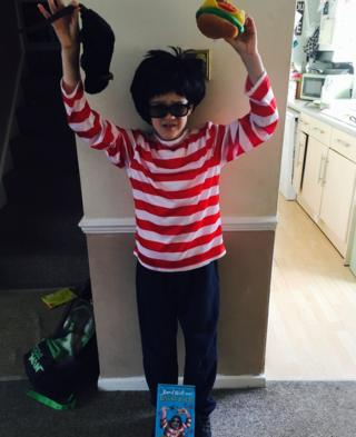 Eight-year-old Isaac from Essex is Burt from Ratburger