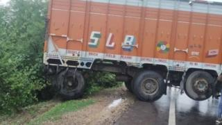 इसी ट्रक से हुई थी टक्कर