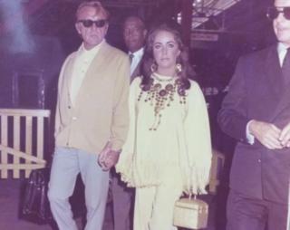 Richard Burton and Dame Elizabeth Taylor