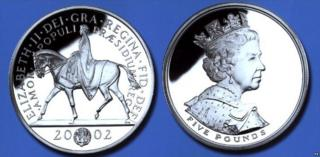 Golden Jubilee coin from the Royal Mint.