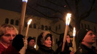 Anti-Homan vigil in Szekesfehervar, Hungary, 13 Dec 15