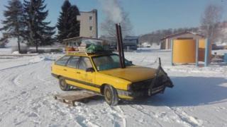 Машина, яку перетворили на сауну