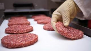 Burger production line
