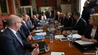 Members of the Irish cabinet discussed the proposed Adoption (Information and Tracing) Bill during a meeting in Lissadell House on Wednesday