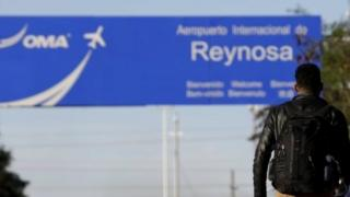 A sign leading to the airport of Reynosa