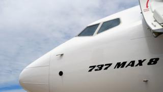 нос самолета Boeing 737 max 8