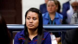 Evelyn Hernandez inside court on Monday