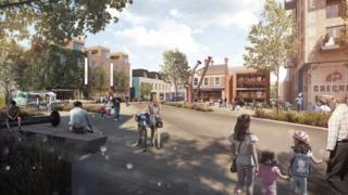 Artist's impression of the revamped Gateshead High Street