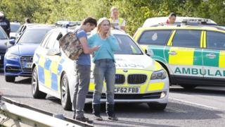Lady C at scene of the crash