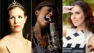 A ballerina, a singer and an actress