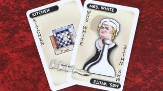 Mrs White Cluedo card
