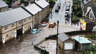 Floods in Buxton