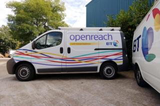 Openreach vans