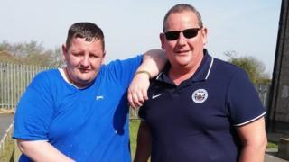Craig Wylie and his dad David Wylie