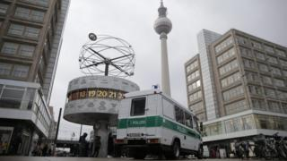 Police van in Alexanderplatz
