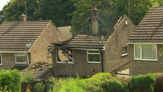 Damaged house in Riddings